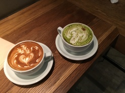 Regular and Matcha Cappuccino